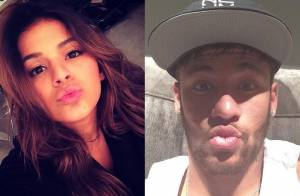 Neymar e Bruna Marquezine mandam o mesmo recado no Instagram no dia do beijo