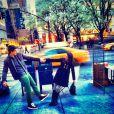 Enzo Celulari e Sophia se divertem em Nova York