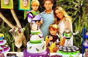 Danielle Winits comemora os 3 anos do filho Guy com festa temática