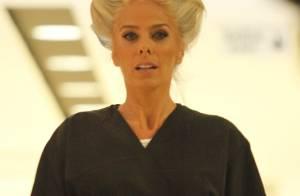 Adriane Galisteu vai à salão de beleza e evento após se recuperar de pneumonia