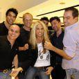 Adriane Galisteu esteve na noite desta segunda-feira, 28 de abril de 2014, no salão MG, do Marco Antonio di Biaggi, em São Paulo