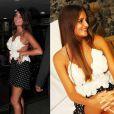 Catarina Migliorini, famosa por leiloar a virgindade, usou o mesmo modelito para lançar a revista 'Playboy' em São Paulo e em Itapema (SC)