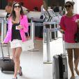 Mariana Rios não perde o estilo nem na hora de viajar de avião. Mas também repete as peças: a minissaia branca já passeou de avião algumas vezes