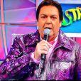 As jaquetas coloridas de Fausto Silva também costumam ser muito comentadas e dividem opiniões dos telespectadores