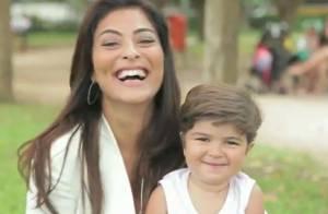 Filho de Juliana Paes, Pedro esbanja fofura em caras e bocas para vídeo; veja!