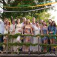 Seis casais celebram sua união oficial em um casamento coletivo no último capítulo de 'Além do Horizonte'