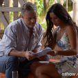 Kleber (Marcello Novaes) e Fáima (Yanna Lavigne) protagonizaram uma comovente cena de pai e filha no último capítulo de 'Além do Horizonte'