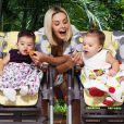 Bianca Rinaldi precisou fazer um processo de fertilização para geral as filhas Sofia e Beatriz