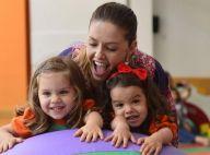 Bianca Rinaldi, de 'Em Família', celebra os 5 anos das gêmeas Beatriz e Sofia