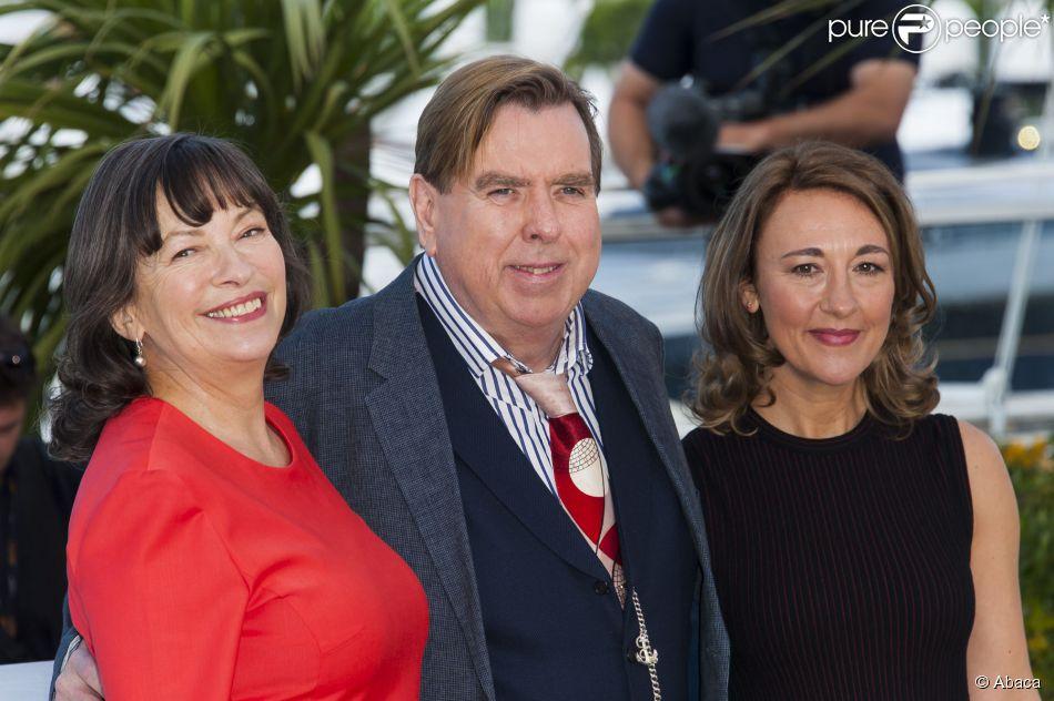 Marion Bailey, Timothy Spall and Dorothy Atkinson divulgam 'Mr. Turner' no Festival de Cannes 2014, em 15 de maio de 2014