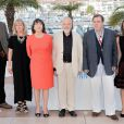 Dick Pope, Marion Bailey, Mike Leigh, Timothy Spall, Dorothy Atkinson participam do photocall do 'Mr. Turner' no Festival de Cannes 2014