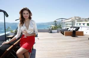 Paloma Bernardi e Klebber Toledo participam de almoço no Festival de Cannes 2014