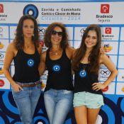 Vanessa Gerbelli e Ângela Vieira prestigiam corrida contra o câncer no Rio