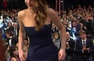 Vestido desmontado de Jennifer Lawrence: porta-voz diz que era o design da peça