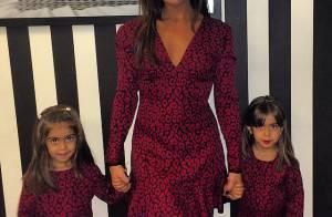 Giovanna Antonelli e suas filhas gêmeas, Sofia e Antônia, apostam no mesmo look