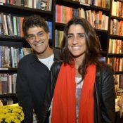 Eduardo Moscovis e a mulher, Cynthia Howlett, vão a lançamento de livro no Rio