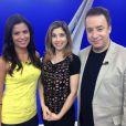 Maurício Torres apresentava o programa 'Esporte Fantástico', da Record, ao lado Mylena Ciribelli e Cláudia Reis