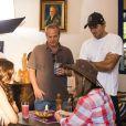 Jayme Monjardim, diretor de núcleo de 'Em Família', e Leonardo Nogueira, diretor-geral, gravaram juntos cena da primeira fase da novela
