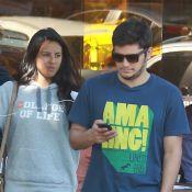 Bruno Gissoni e a namorada, Yanna Lavigne, almoçam juntos em restaurante no Rio