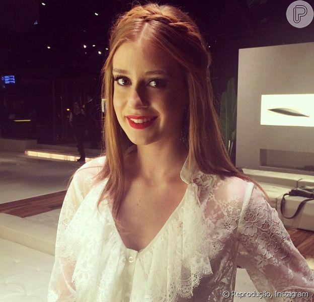 Marina Ruy Barbosa marcou presença em evento de lançamento da sua linha de sapatos, na loja UZA, em São Paulo, nesta quarta-feira, 4 de junho de 2014