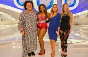 Com as pernas à mostra, Gaby Amarantos fala sobre boa forma no 'Programa Eliana'
