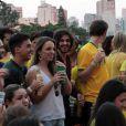 O cantor assistiu ao jogo de Brasil e Colômbia, na sexta-feira, 4 de julho de 2014, em uma festa no Rio de Janeiro