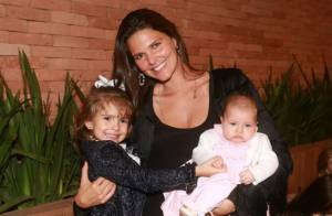 Daniella Sarahyba celebra aniversário com as filhas Gabriela e Rafaella, no Rio