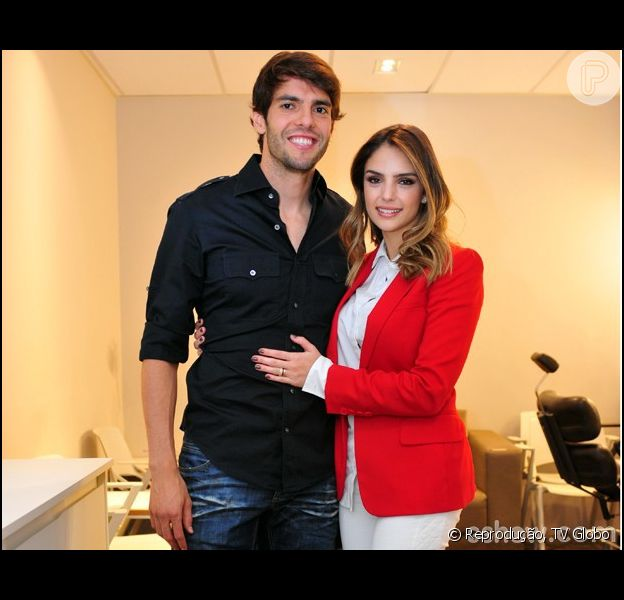 Carol Celico elogia Kaká nos bastidores do 'Domingão do Faustão': 'Ele é um príncipe' (11 de julho de 2014)
