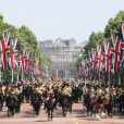 Tradicional parada militar 'Trooping The Colour' foi realizada em Londres, na Inglaterra, na manhã deste sábado, 9 de junho de 2018