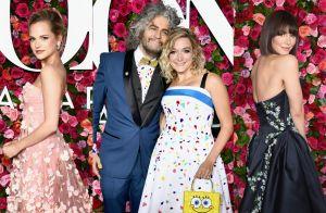 Visual combinado e bolsa do Bob Esponja chamam atenção no Tony Awards. Looks!