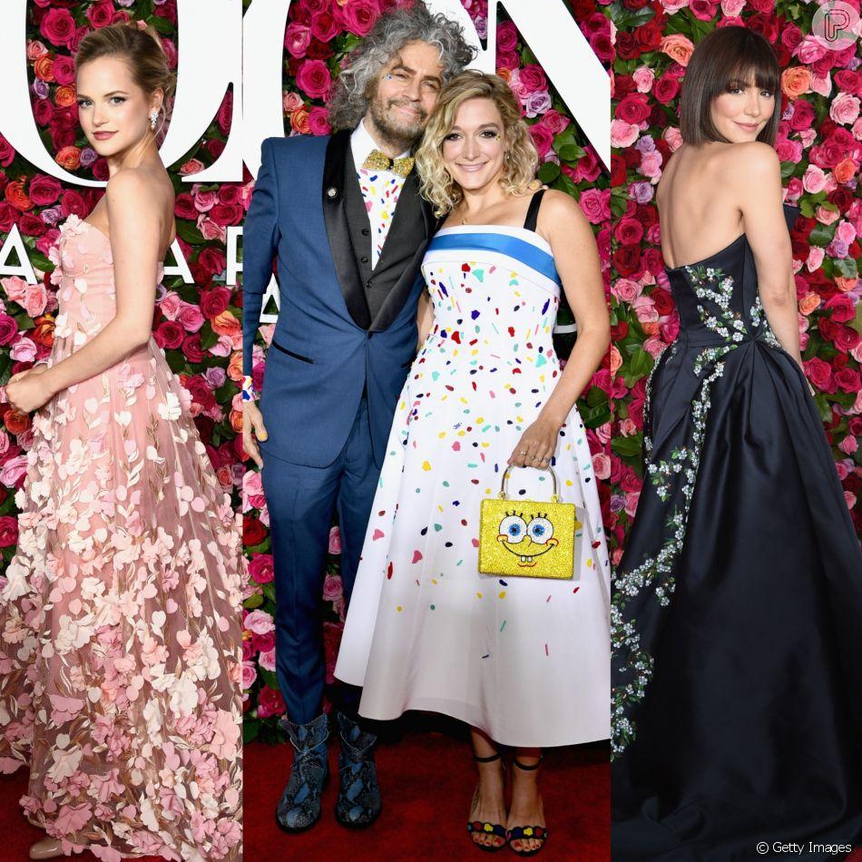 Stephanie Styles, Katy Weaver e Katharine McPhee foram destaques na 72ª edição do Tony Awards, realizada no Radio City Music Hall, em Nova York, neste domingo, 10 de junho de 2018