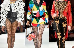 Clima de circo: Moschino exibe nova coleção com mix de estampas, cores e perucas