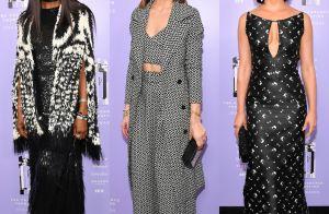 Naomi Campbell, Olivia Palermo e Morena Baccarin usam P&B em prêmio. Veja looks!