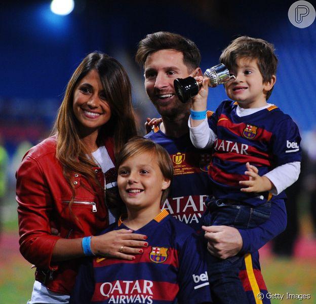Mulher de Lionel Messi, Antonella Roccuzzo mostrou seu apoio ao marido e a Argentina no seu perfil no Instagram nesta quinta-feira, 21 de junho de 2018