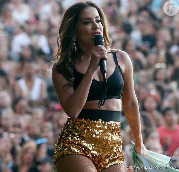 Anitta veste Dolce & Gabbana em show no Rock in Rio Lisboa, no domingo, 24 de junho de 2018