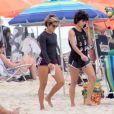 Nanda Costa e Lan Lanh são  vistas com frequência nas praias do Rio de Janeiro