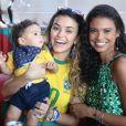 Aline Dias e Talita Younan assistiram ao jogo do Brasil na Copa do Mundo na Rússia nesta sexta-feira, 6 de julho de 2018