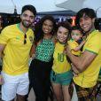 Acompanhados do filho, Aline Dias e Rafael Cupello acompanharam jogo do Brasil na Copa do Mundo na Rússia nesta sexta-feira, 6 de julho de 2018