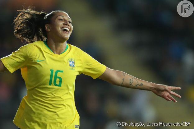 Bia Zaneratto foi a artilheira do Brasil na Copa América deste ano