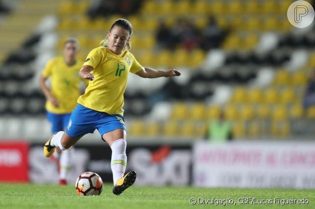 Andressinha tem 23 anos e está há 10 na seleção brasileira