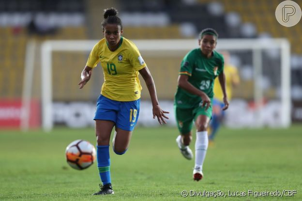 Aline Milene cresceu na base do Atlético Mineiro e fez este ano sua estreia na seleção brasileira