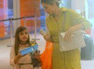 Programa de mãe e filha! Grazi Massafera passeia e faz compras com Sofia no RJ