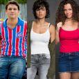 Grávida de Ionan (Armando Babaioff), Maura (Nanda Costa) beijo o amigo e trai a namorada, Selma (Carol Fazu), na novela 'Segundo Sol'