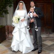 Decote clássico e saia moderna: o vestido de Bruna Hamú em seu casamento