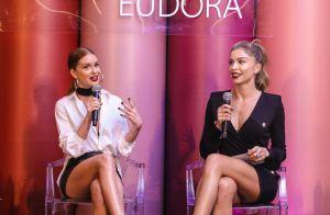 Marina Ruy Barbosa e Grazi Massafera participam de evento da Eudora sobre make