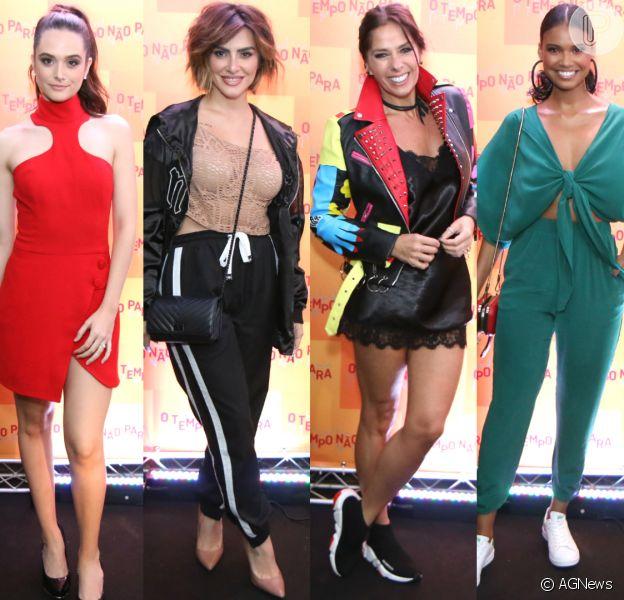 Veja o look das famosas na festa de lançamento da novela 'O Tempo Não Para'