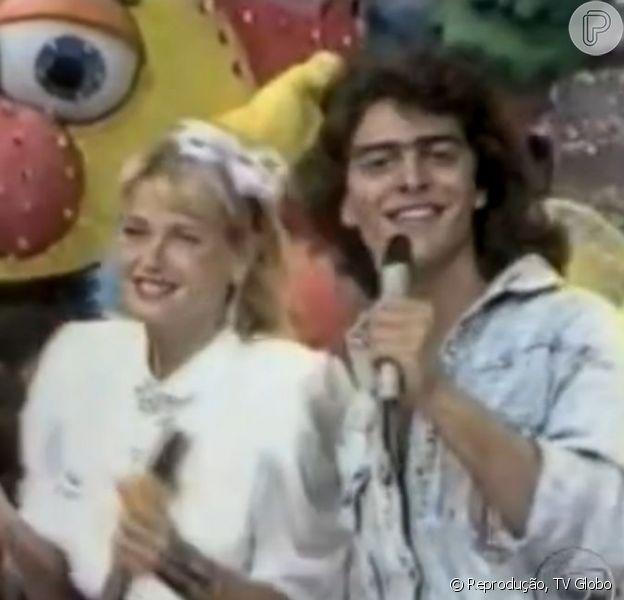 Junno Andrade e Xuxa, em imagens dos anos 1980, aparecem no 'Vídeo Show', em 7 de fevereiro de 2013