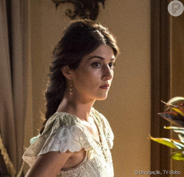 Cecília (Anajú Dorigon) fica aflita com a demora de engravidar de Rômulo (Marcos Pitombo) nos próximos capítulos da novela 'Orgulho e Paixão': 'Será que tem algo de errado comigo?'