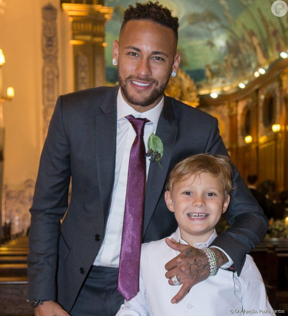 Filho de Neymar, Davi Lucca homenageou o jogador no Dia dos Pais neste domingo, 12 de agosto de 2018
