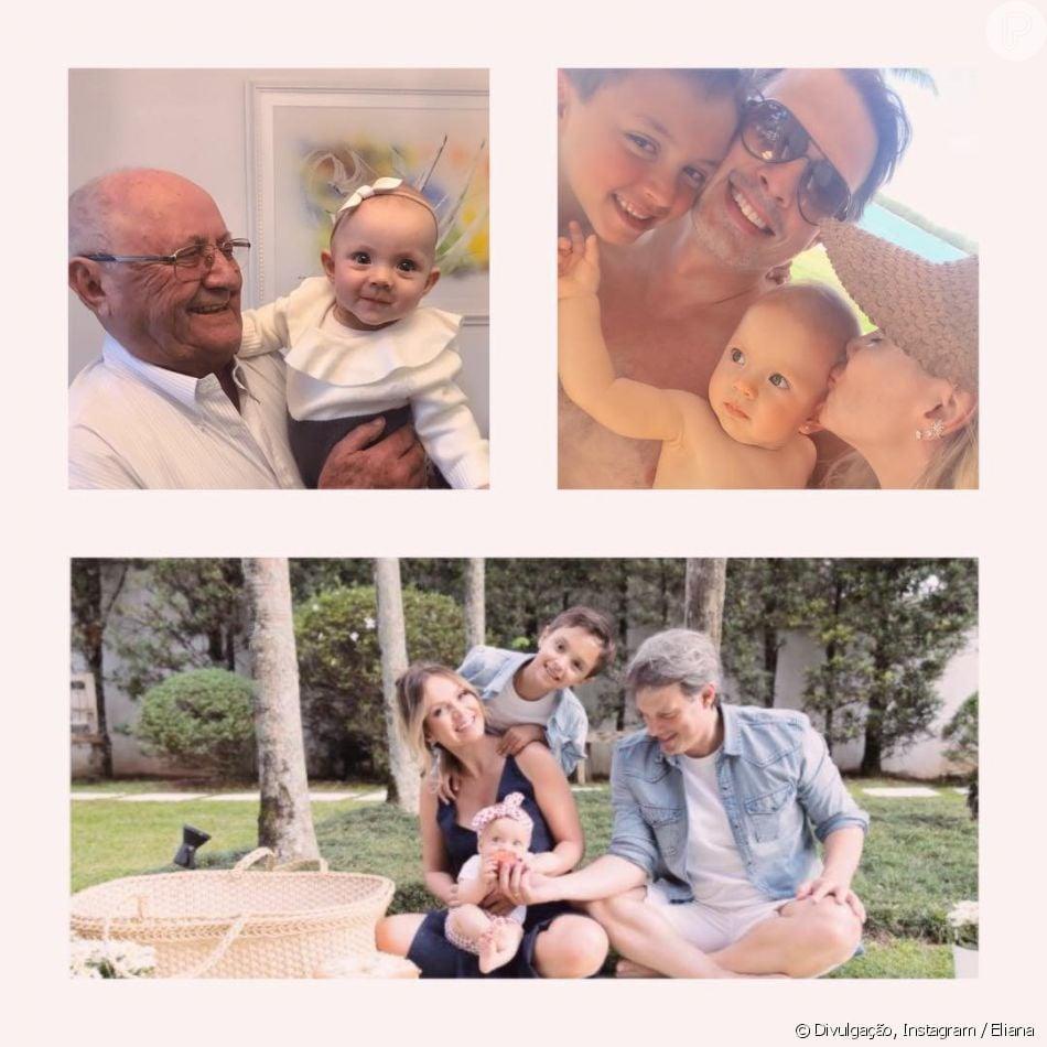 Eliana faz homenagem ao noivo, Adriano Ricco, e ao pai, José Bezerra, no Dia dos Pais, em 12 de agosto de 2018